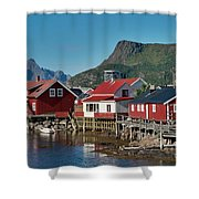 Fishermen's Houses Shower Curtain