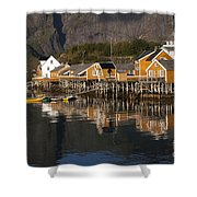 Fishermen's Village Sakrisoy  Shower Curtain