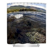 Fisheye Seascape Shower Curtain