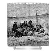 Fishing Boat, 1882 Shower Curtain