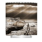 Fishing Boat Graveyard 9 Shower Curtain