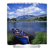 Fishing Boat On Upper Lake, Killarney Shower Curtain