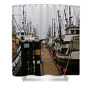 Fishing Boat Walkway Shower Curtain