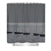 Fishing Boats Art Shower Curtain