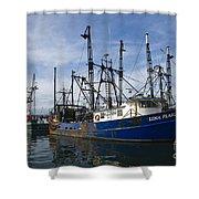 Fishing Boats At Dock Shower Curtain
