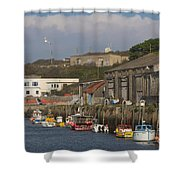 Fishing Boats Hayle Harbour Shower Curtain