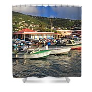 Fishing Boats In Frenchtown Shower Curtain