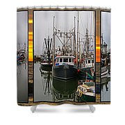Fishing Boats In Steveston Group Photo Shower Curtain