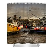 Fishing Boats On The Cobb Shower Curtain