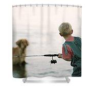 Fishing Boy Shower Curtain