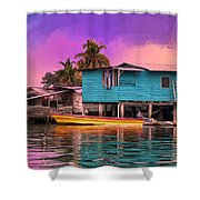 Fishing Camp Twilight Shower Curtain