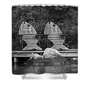 Fishing Chairs Shower Curtain