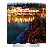 Fishing Harbour At Dusk Shower Curtain