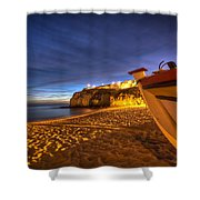Fishing Night Off Shower Curtain