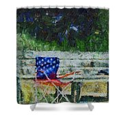 Fishing On Memorial Day Shower Curtain