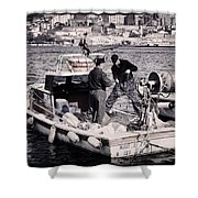 Fishing On The Golden Horn Shower Curtain