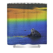Fishing On The Ocean Shower Curtain