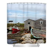 Fishing Village In Nova Scotia Shower Curtain