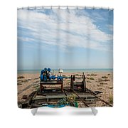 Fishing Winches Shower Curtain