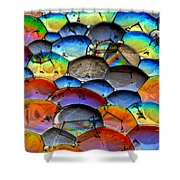 Fishy Bubbles Shower Curtain