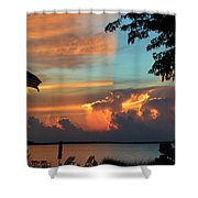 Fitting Sunset Shower Curtain