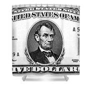 Five Dollar Bill Shower Curtain