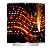Flag On Shower Curtain