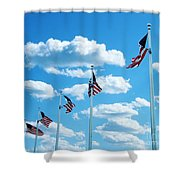 Flag Wave Shower Curtain