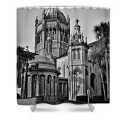 Flagler Memorial Presbyterian Church 3 - Bw Shower Curtain