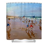 Flags And Reflections Shower Curtain