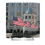 Flags On The Avenue Shower Curtain