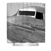 Flagship Detroit Work Number Seven Shower Curtain
