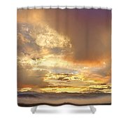 Flagstaff Fire Sky Boulder Colorado Shower Curtain