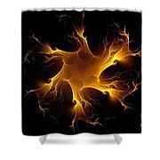 Flame Wheel Shower Curtain