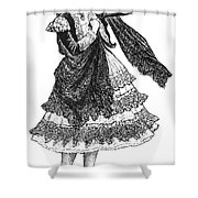 Flamenco Dancer Shower Curtain