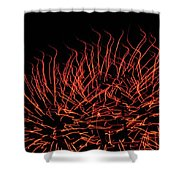 Flaming Fireworks Shower Curtain