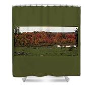 Flaming Foliage Autumn Pasture Shower Curtain