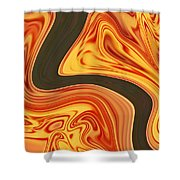 Flaming River Shower Curtain