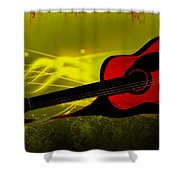 Flaming Wood Shower Curtain