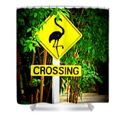 Flamingo Crossing Shower Curtain