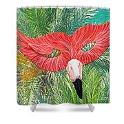 Flamingo Mask 2 Shower Curtain