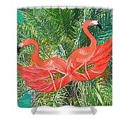 Flamingo Mask 4 Shower Curtain