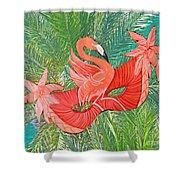 Flamingo Mask 8 Shower Curtain