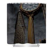 Flatiron Building And Clock Shower Curtain
