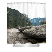 Flattop Rock Yosemite Shower Curtain
