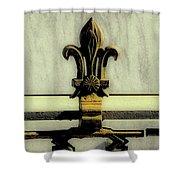 Fleur De Lis Two Shower Curtain