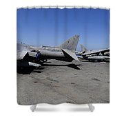 Flight Deck Personnel Reposition Av-8b Shower Curtain