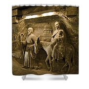 Flight Into Egypt - Wieliczka Salt Mine Shower Curtain