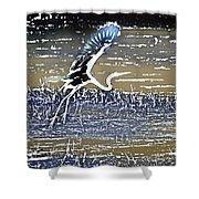 Flight Of The Egret V5 Shower Curtain