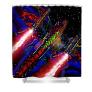 Flight Of The Firey Dragon Shower Curtain